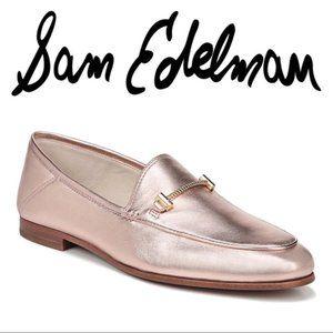Sam Edelman Lior blush gold loafers NWOT